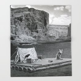 IN THE GRAND CANYON Throw Blanket