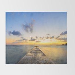 Golden Hour in Waikiki Throw Blanket