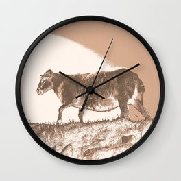 The shubby sheep Wall Clock