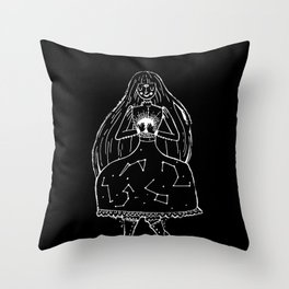 The Clairvoyant (black) Throw Pillow