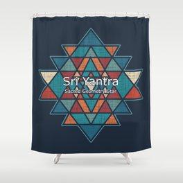 Sri Yantra - Sacred Geometry Star Shower Curtain