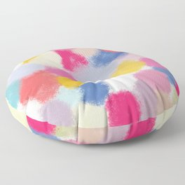 Splotches - by Kara Peters Floor Pillow