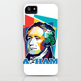 Alexander Hamilton Pop Art iPhone Case
