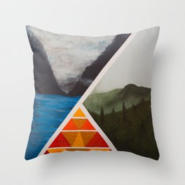 Trilateral  Throw Pillow