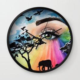 Eye Prism Wall Clock