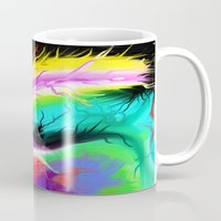 hot fuzz Mugs featuring Fuzz by Cameron A