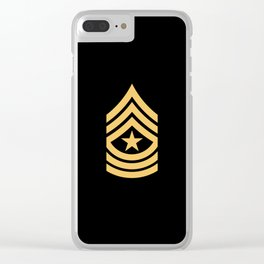 Sergeant Major (Gold) Clear iPhone Case