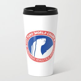 Fist Pump World Champ Metal Travel Mug