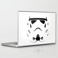 storm trooper Laptop & iPad Skins featuring Storm Trooper by WaXaVeJu