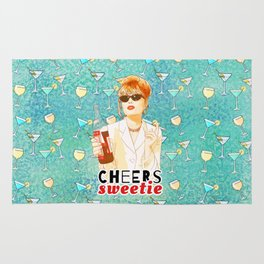 Cheers sweetie Patsy Stone AbFab Rug