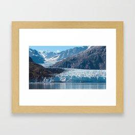 Deep Blue Glacier Framed Art Print