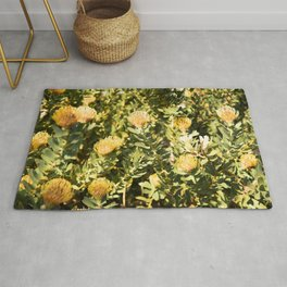 Golden African Flower Rug