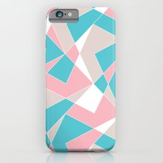 Broken Pattern (Pink-Turquoise) iPhone 6s Slim Case