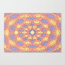 Arabesque 3D - Color: Sunset Hues Canvas Print