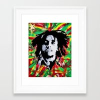 marley Framed Art Prints featuring MARLEY by Kofi Ofori