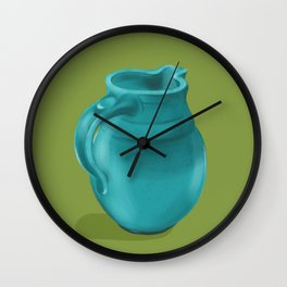 Teal Vase of Italy Wall Clock