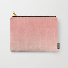 Coral ombre trendy girly trend college life dorm decor office minimalism Carry-All Pouch