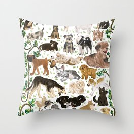 Pup Park Throw Pillow