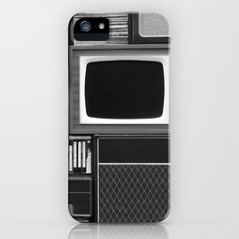 Everything Retro (Black and White) iPhone Case