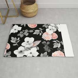 Night bloom - moonlit flame Rug