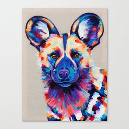 Painted Hunting Dog / African wild dog Canvas Print