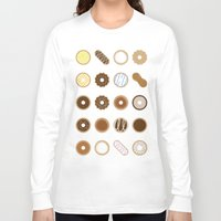 donuts Long Sleeve T-shirts featuring Donuts by Dorothy Leigh