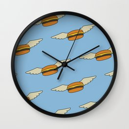 Bob's Burgers Flying Burger Wall Clock