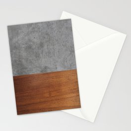 Concrete and Wood Luxury Stationery Cards