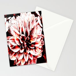 Strawberry Coated Flower Stationery Cards