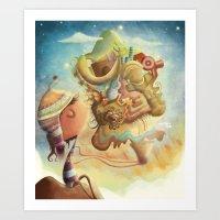 peru Art Prints featuring Peru by andreaga