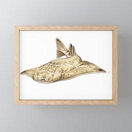 Angel shark Framed Mini Art Print
