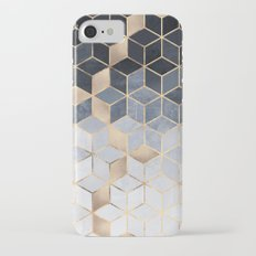 Soft Blue Gradient Cubes Slim Case iPhone 7