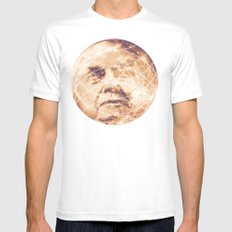 Man in the Moon Phases Mens Fitted Tee White MEDIUM