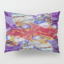 Bright Abstract Flower; Purple, Lavender and Maroon Background; Fluid Abstract 55 Pillow Sham