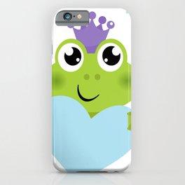 Little cutie smiling  Froggie iPhone Case