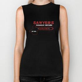 Sawyer's Chainsaw Repair Biker Tank