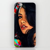 aaliyah iPhone & iPod Skins featuring Baby Girl by Fake Wealth