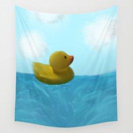 Dreaming at Sea Wall Tapestry