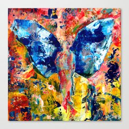 Butterfly 1, Acrylic On Canvas, Chase Medved Canvas Print