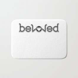 BELOVED ambigram Bath Mat