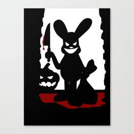 Bloody Rabbit Halloween version Canvas Print