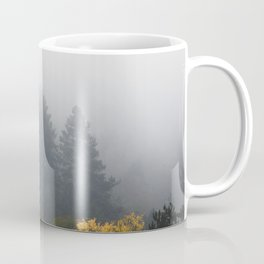 Autumn forest wrapped in fog Coffee Mug