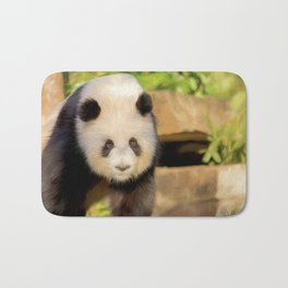 Giant Panda (digital painting) Bath Mat