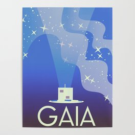 GAIA Space Telescope travel poster. Poster
