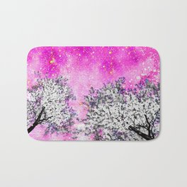 NEBULA  DREAMS TREES  PINK Bath Mat