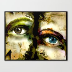2Eyes2Faces by carographic Canvas Print