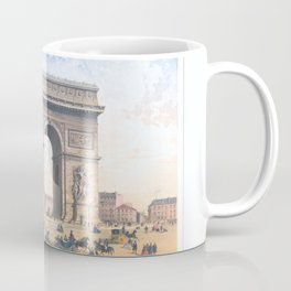 Paris art print Paris Decor office decoration vintage decor ARC DE TRIOMPHE of Paris Coffee Mug