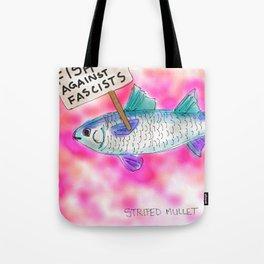 Fish Against Fascists Tote Bag