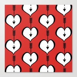 Loving You white hearts Canvas Print