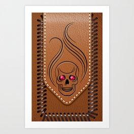 Hot Head Leather Art Print